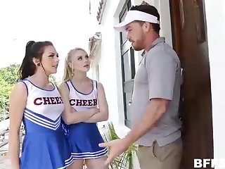 Insatiable cheerleaders and a stunning coach are having a concurring livelihood up time, mainly the bed