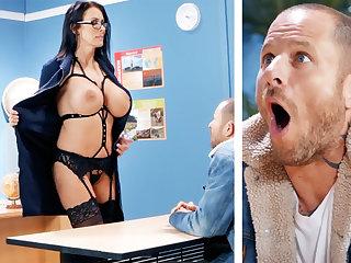 Sexy teacher hardcore fucks schoolboy within reach teacher