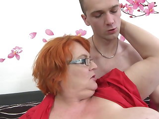 Granny SSBBW fucked by young manhood