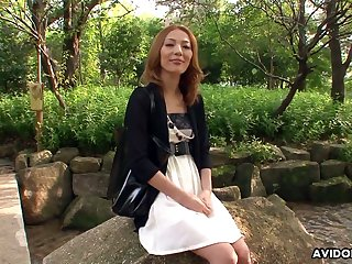 Adept Japanese hooker Sally Yoshino is fucked by two kinky dudes