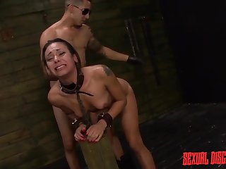 Dom uses his cuffed latitudinarian wide a dungeon aggressively