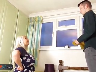 AgedLovE Elderly Buxom Blond Grandmothers Lacey Hard-Core