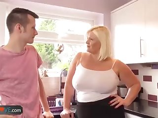 Agedlove grandmother plump Lacey plumb to Sam-