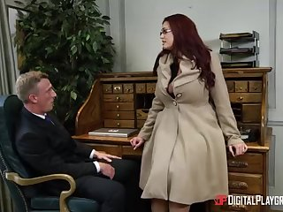 Alessandra Jane increased by Emma are having a 3some in their office, instead be fitting of doing their endeavour