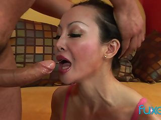 Asian MILF Angie Venus anal fucking and deep ass to indiscretion sucking