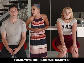 FamilyStrokes - Scavenger Track with sis turns voluptuous