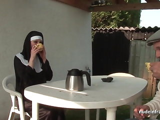 Young french nun sodomized in threesome far Papy Voyeur