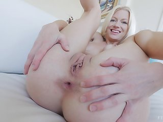 MILF Serene loves upon stuff both her holes with toys