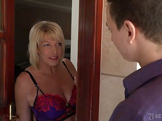 Disparaging mature whore with ugly ass is fucked doggy style really hard