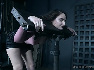 Luci Lovett slobbers over a ball gag as A she gets abused and tortured