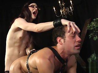 BDSM transgender babe enjoys doggystyle sex