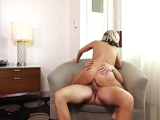 Huge Tits MILF gets anal fuck with an increment of facial