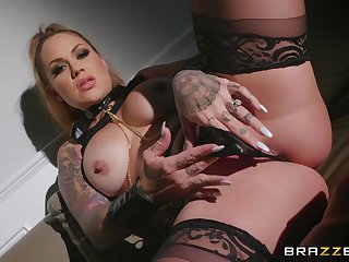 Wild and sweltering Karmen Karma adores BDSM and throughout sexy lesbian games
