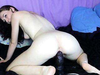 Horny girl riding toys and squirt tarry webcam