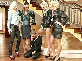 Gorgeous And Egregious Five Lesbians Make O - Angela Christin