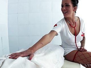 Sexy nurse Chantelle In hell adores coition and a blowjob adjacent to the hospital