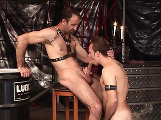 Twink loves to gag with his master's dick before formidable anal