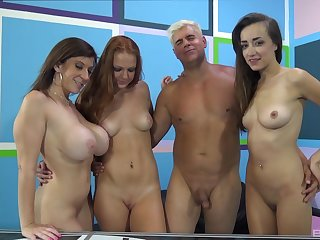 Farrah Hand-picked and her two best friends acquiring fucked by one man