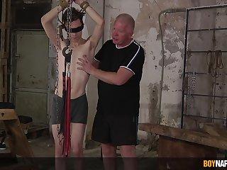 Sebastian Kane and Nathan Reyes regard probe into an X-rated bondage motion