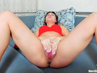 Gorgeous Girl in Underclothes Passionate Play Pussy - Solo