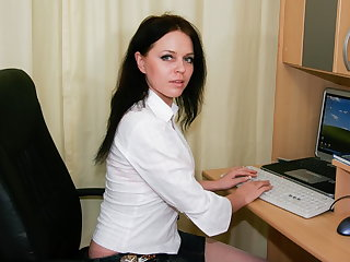 Horny russian MILF wanking in the berth