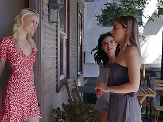 Lesbian scene with attractive babes Kenna James and Jane Wilde