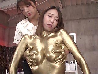 Gold Paint Lesbian Knead