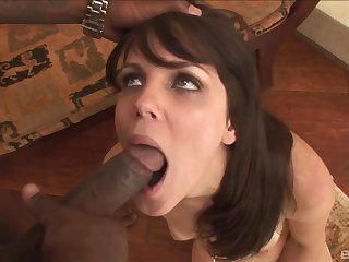 Hot ass model Bobbi Starr fucked by a massive black dick from behind