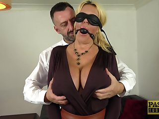 Blindfolded wife Shannon Boobs enjoys having lifelike sex