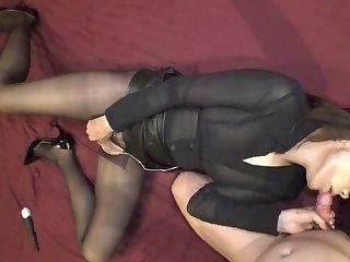 Black Pantyhose Ultra-small Panty Stile
