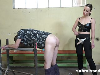 Naughty Lilit Appealing loves pegging a naughty guy with a long toy