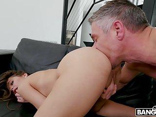 Bitch sucks dad's cock and fucks like a bitch