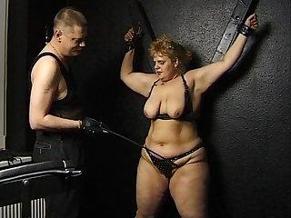 Obese German Unfocused Goes Bdsm